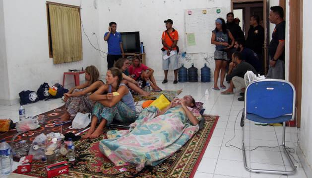 Supervivientes del naufragio ocurrido el sábado en Indonesia