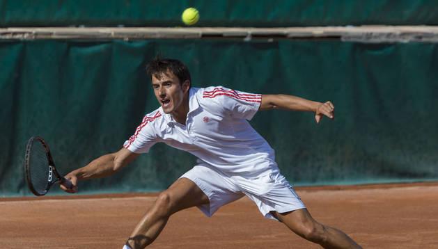 El tenista navarro, Eduardo Sanz