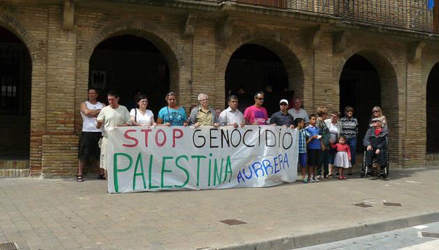 .Asistentes a la concentración celebrada en Villafranca.