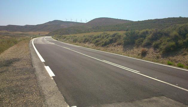 Tramo de la carretera entre Tudela y Ejea de los Caballeros
