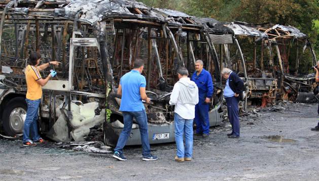 Los autobuses quemados en Loiu