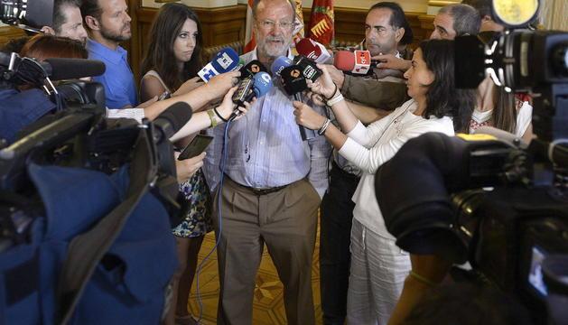 El alcalde de Valladolid, Javier León de la Riva, este viernes