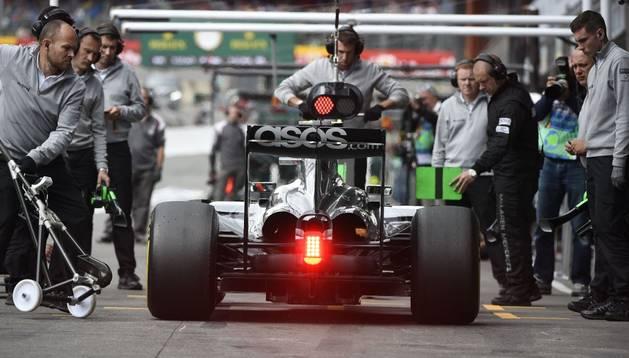 Nico Rosberg, en el Gran Premio de Bélgica