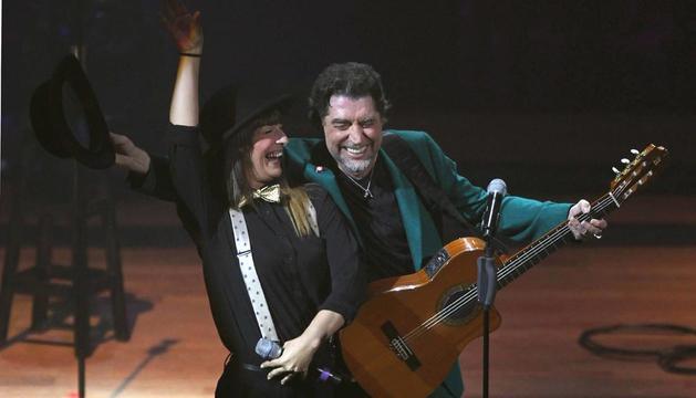 Joaquín Sabina, durante su concierto en Lina de la gira '500 noches para una crisis'
