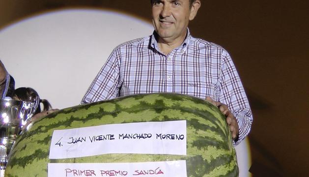 La sandía de 68 kilos y 600 gramos, propiedad de Juan Vicente Manchado