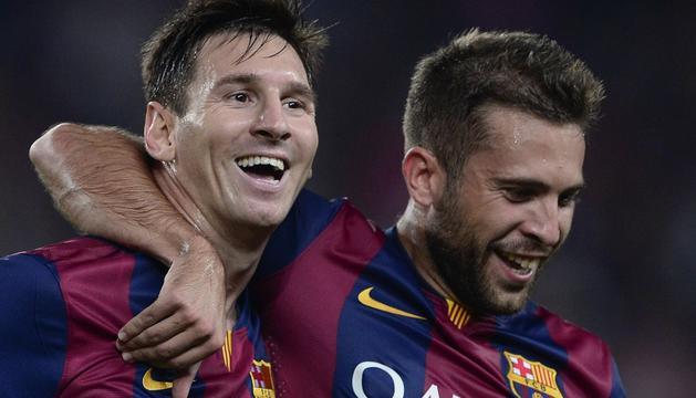Messi y Jordi Alba