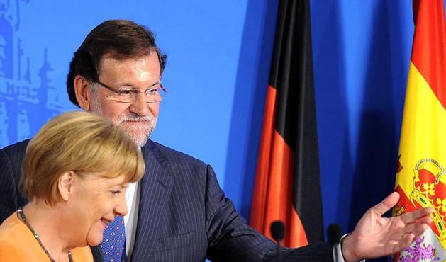 La canciller de Alemania, Angela Merkel, y el presidente del Gobierno, Mariano Rajoy, han celebrado una reunión de trabajo de dos días en Santiago de Compostela.