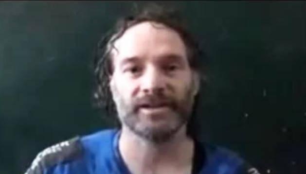 Imagen del periodista Peter Theo Curtis extraída de un vídeo de Al JazeeraTV