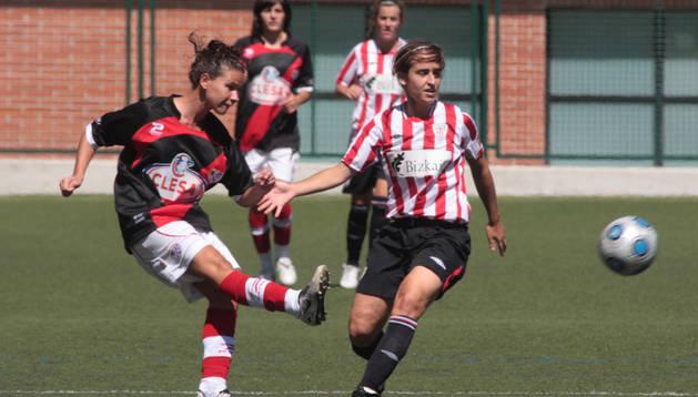 Jugadores del Rayo y del Athletic, en la edición de 2009