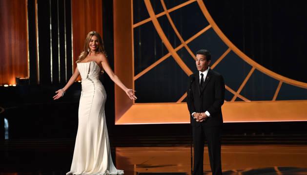La actriz Sofía Vergara durante la ceremonia de entrega de premios.