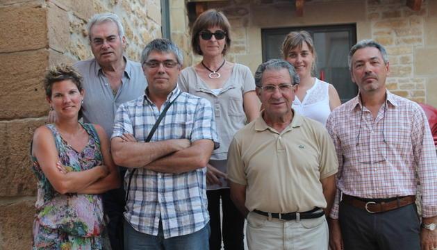 De izq.  a drecha, Silvia Zabala, Jesús Antona , Fernando Pagola García, Kalen Artze,  Eduardo Ripa, Susana Laredo y José Carlos Oroquieta .