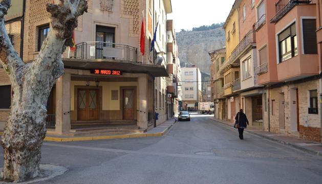 Punto de intersección de las calles Plus Ultra y Entre Ríos.