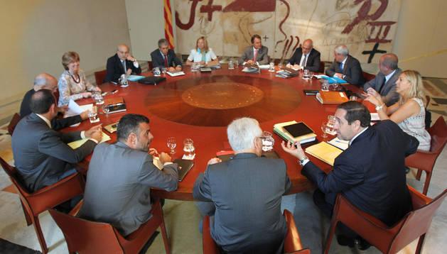 Primera reunión del Gobierno catalán tras las vacaciones.