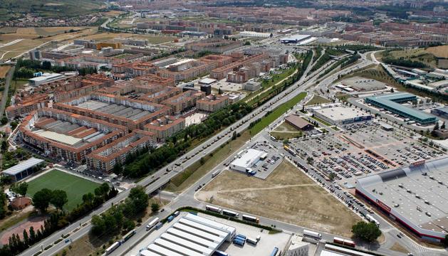 Vista aérea de Berriozar, localidad que ofertó dos plazas de policía.