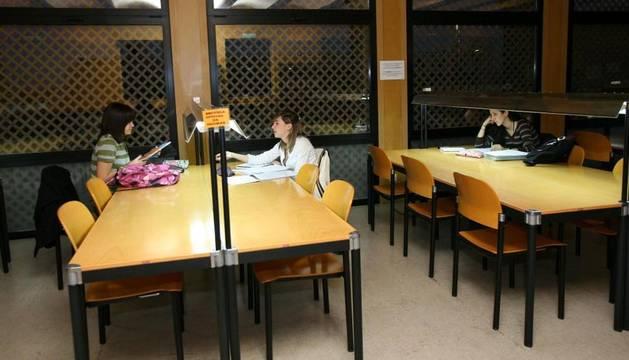 La biblioteca de la UNED de Tudela
