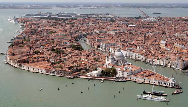 Una vista aérea de Venecia.