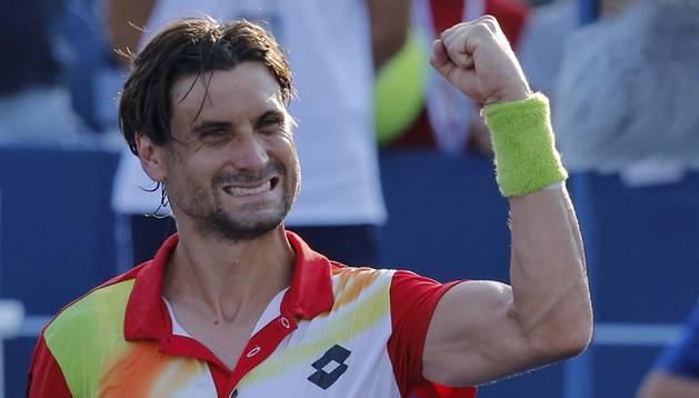 David Ferrer celebra la victoria