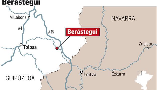 Mapa del lugar donde tuvo lugar el accidente