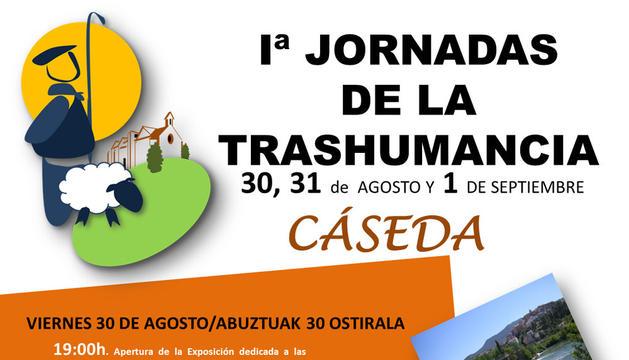 Cartel de las I Jornadas de Trashumancia de Cáseda