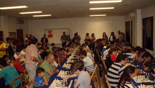Los participantes en el VIII Torneo Relámpago de Ajedrez Villa de Cintruénigo.