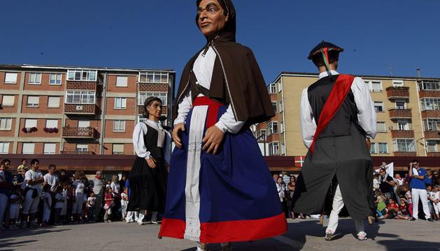 Los Gigantes de Berrioza, en las fiestas de 2013