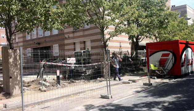 Fuga de gas en la calle Concejo de Ardanaz de Mendillorri.
