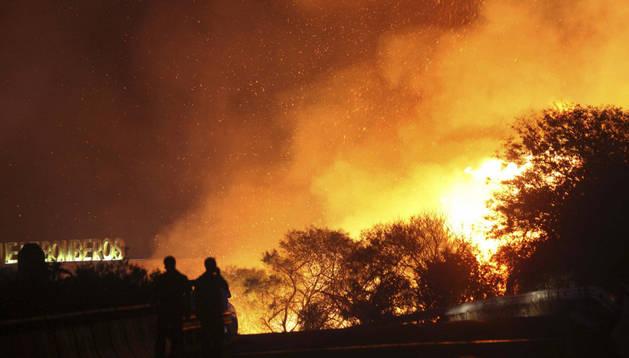 Incendio en San Roque