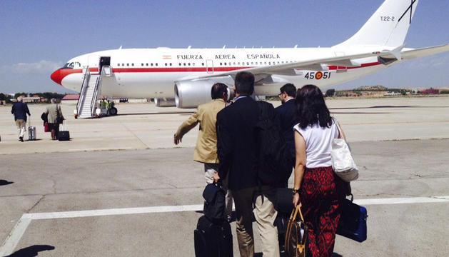El Airbus 310 comenzó el viaje en el aeropuerto de Torrejón, en Madrid