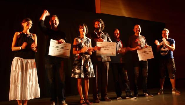 Los prremiados en el IV Concurso de Monólogos del Civican