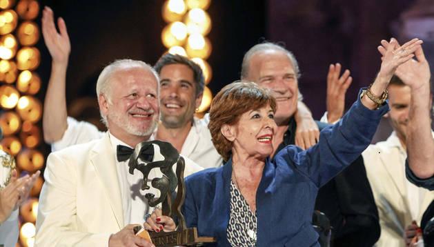 Concha Velasco Recibiendo el premio