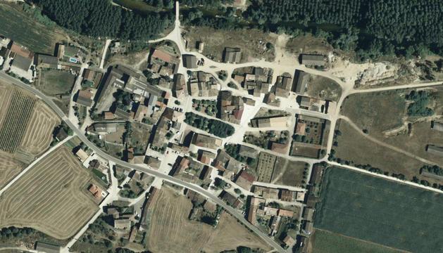 Vista aérea del municipio de Legaria.