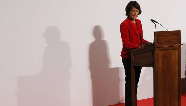 La presidenta del Gobierno foral, Yolanda Barcina, durante un acto institucional de la actual legislatura