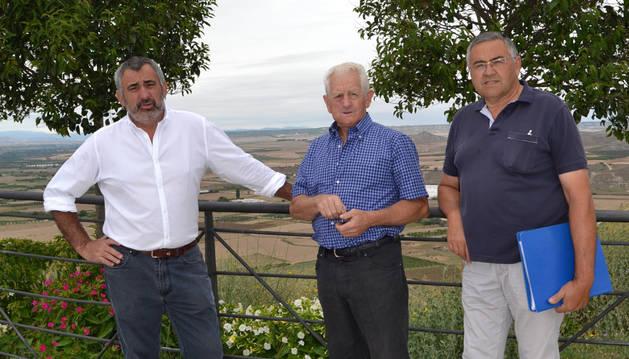 Miguel Ángel Izal Mendoza (presidente de la Plataforma); Máximo Mendoza Ruiz y Nino Ruiz Chocarro, vocales del colectivo.