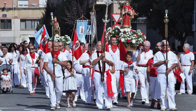 Un momento durante la procesión