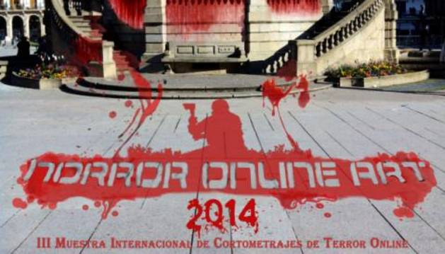 Cartel de Festival Horror Online Art 2014.