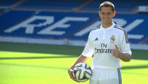 Chicharito Hernández, presentado como nuevo jugador del Real Madrid