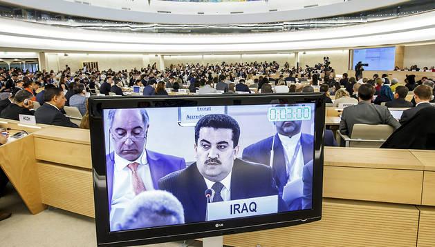 Un momento de la sesión especial de la ONU sobre Irak
