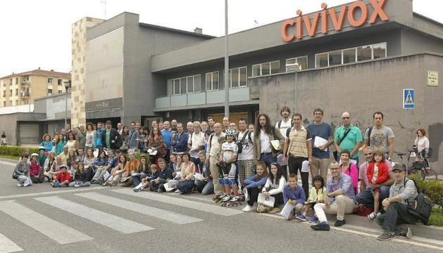Los 105 participantes en el rally fotográfico de Pamplona que se celebró el sábado