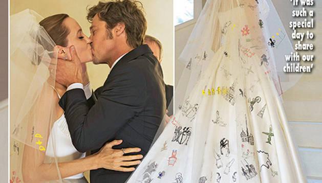 Boda de Angelina Jolie y Brad Pitt