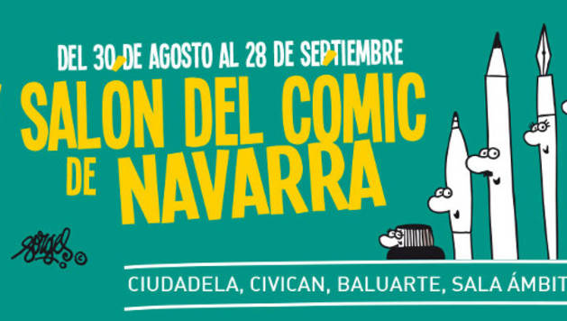 Cartel del V Salón del Cómic de Navarra