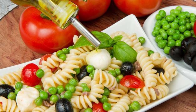 Alimentos de la dieta mediterránea.