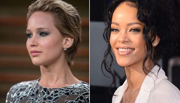 Jennifer Lawrence y Rihanna, afectadas por el pirateo.