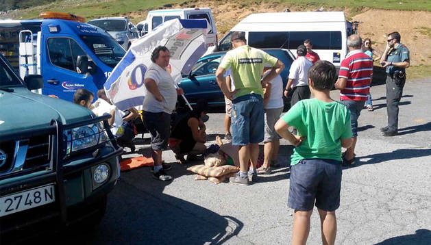 La herida, atendida en San Miguel de Aralar