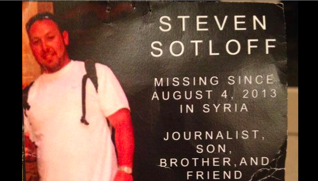 Un cartel en el que se informa de la desaparición de Steven Sotloff