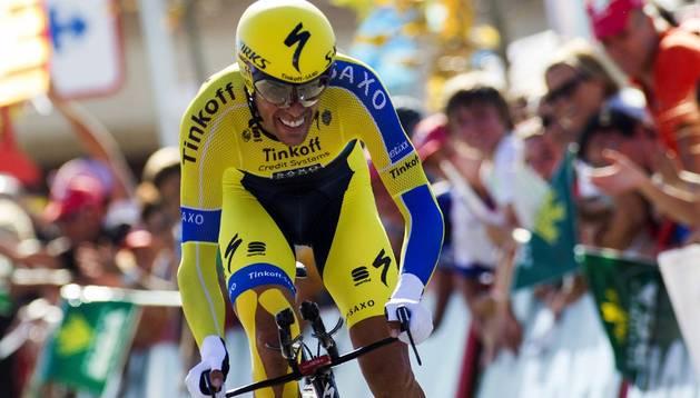 El ciclista español, Alberto Contador