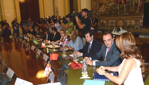 José Javier Esparza, en Madrid en el Consejo Consultivo extraordinario de Agricultura.