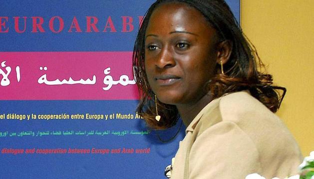 La periodista Caddy Adzuba, en 2008.