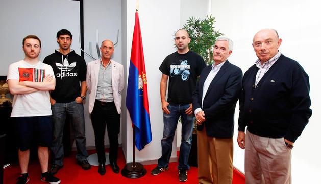 La junta electoral: Luis Mª Pejenaute, Juan Ignacio Patús, Gorka Echeverría, Ekaitz García, Iban Garín y Jesús María Olave.