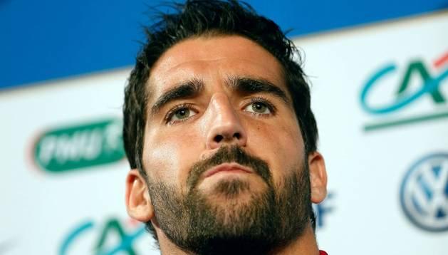 El navarro Raúl García, con la selección