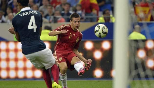 César Azpilicueta, durante el partido contra Francia